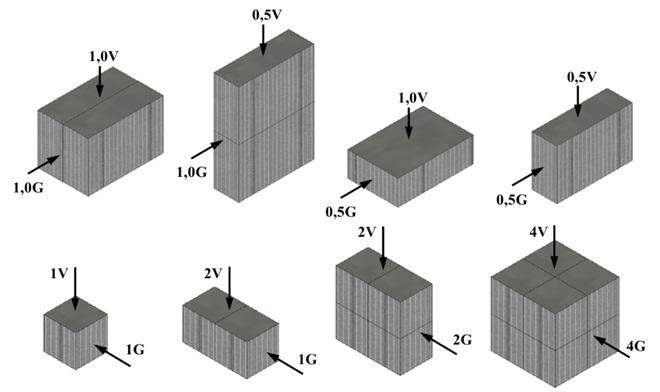 Варианты компановки перекрестноточных насадочных блоков