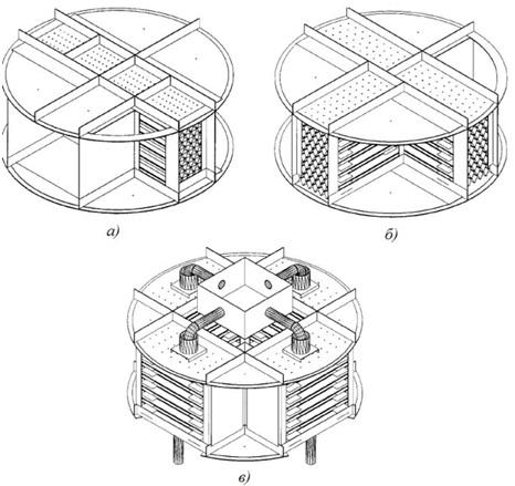 перекрестноточных модулей