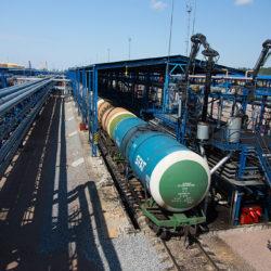 Пермский НПЗ железнодорожная эстакада