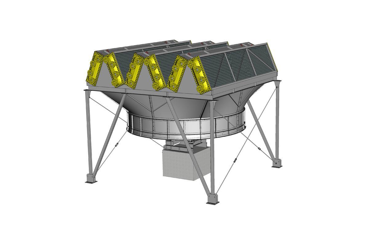 Зигзагообразный аппарат воздушного охлаждения АВЗ