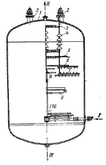 Вертикальный электродегидратор