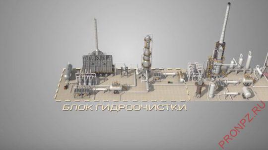 Рисунок 2 - Общий вид блока гидроочистки установки изомеризации