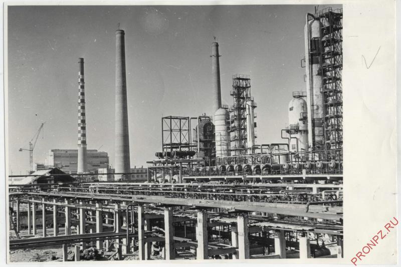 Киришский НПЗ в 70-е гг.