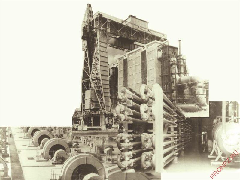 Блоки жидкофазного гидрирования 60-е гг. (в наст. время установка гидрокрекинга)