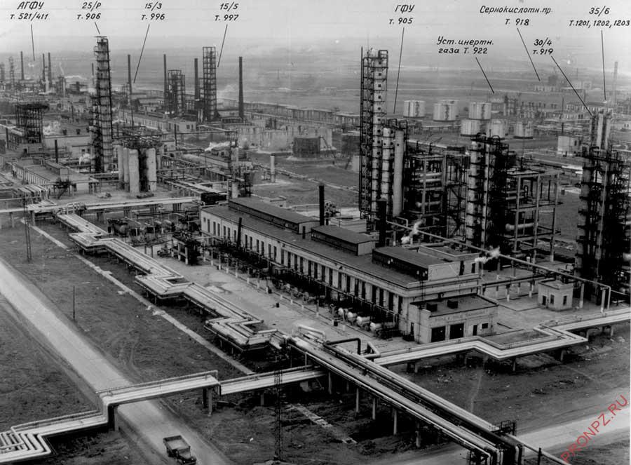 Сызранский НПЗ в 60-70 гг.